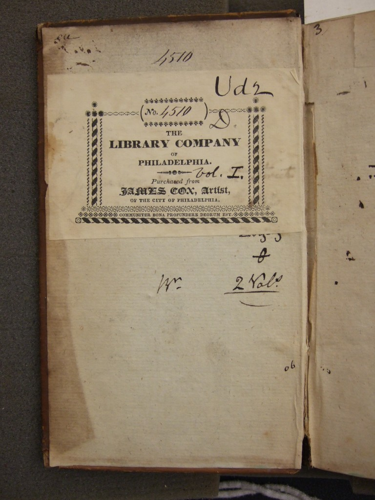 Bookplate of the Library Company of Philadelphia