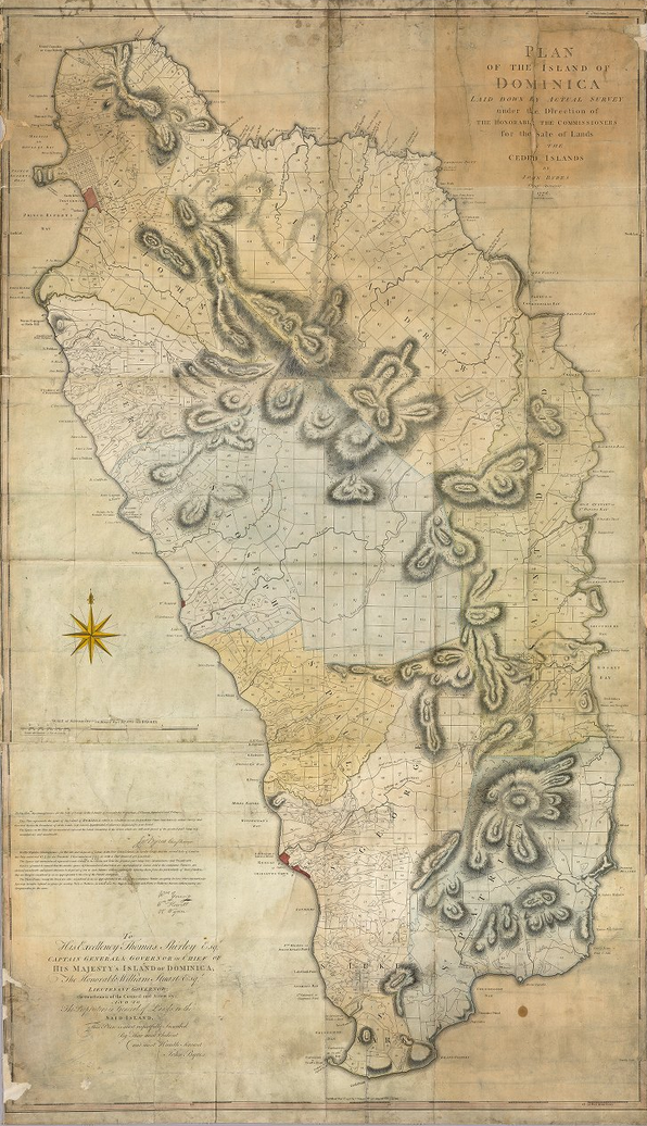 Plan of the island of Dominica (1776)