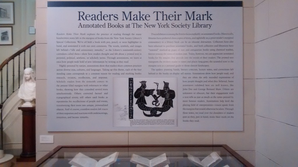 """Readers Make Their Mark"" exhibition"