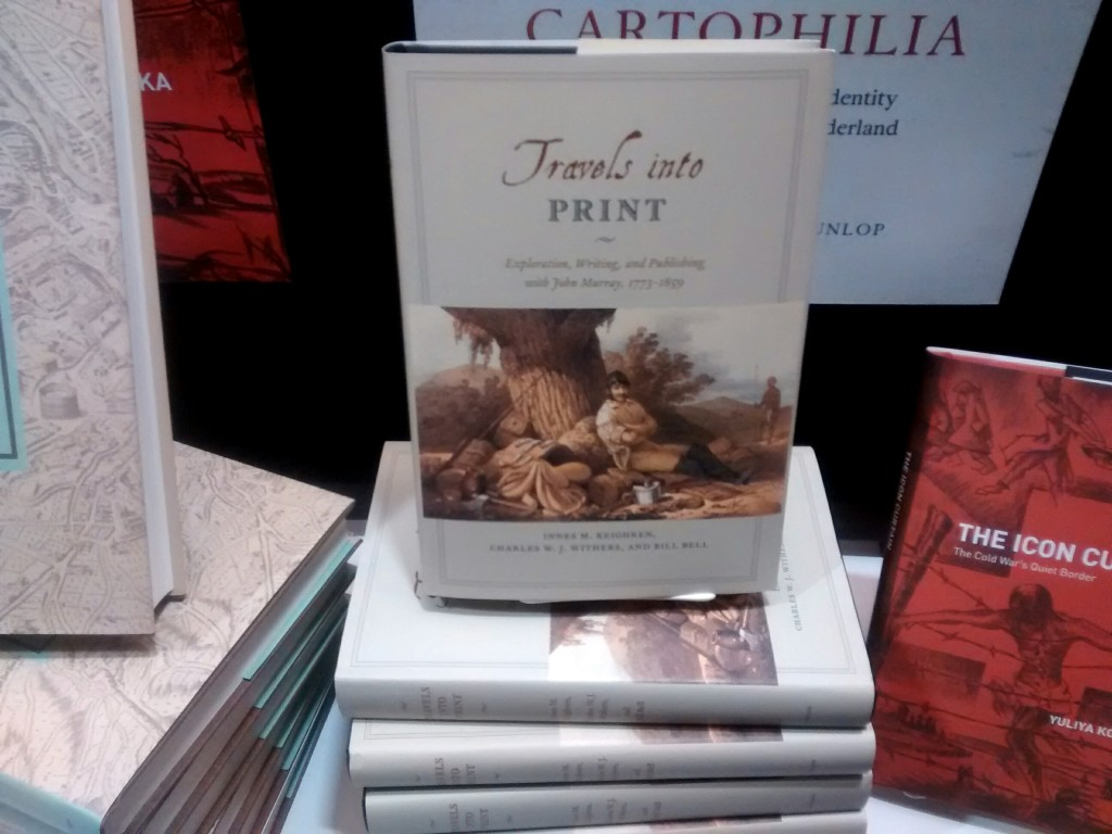 """Travels into Print"" at the publisher's stand."