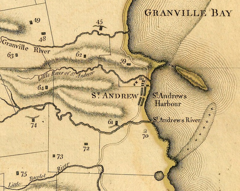 Detail of A new plan of the island of Grenada (1780).