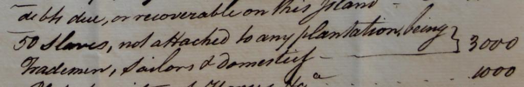 """Extract from Macintosh's """"state of affairs"""". 18 December 1775. Archives départementales de Vaucluse, 2 E Titres de famille 84, """"Charles Wilson / et autres de Grenade / 1767–1776""""."""