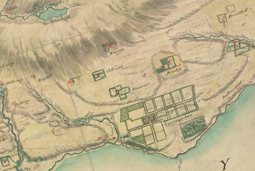 Detail from Roy Military Survey of Scotland, 1747–1755. © National Library of Scotland.