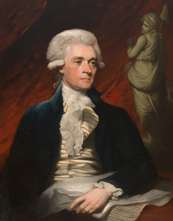 Thomas Jefferson by Mather Brown (1786). National Portrait Gallery, Smithsonian Institution. NPG.99.66.