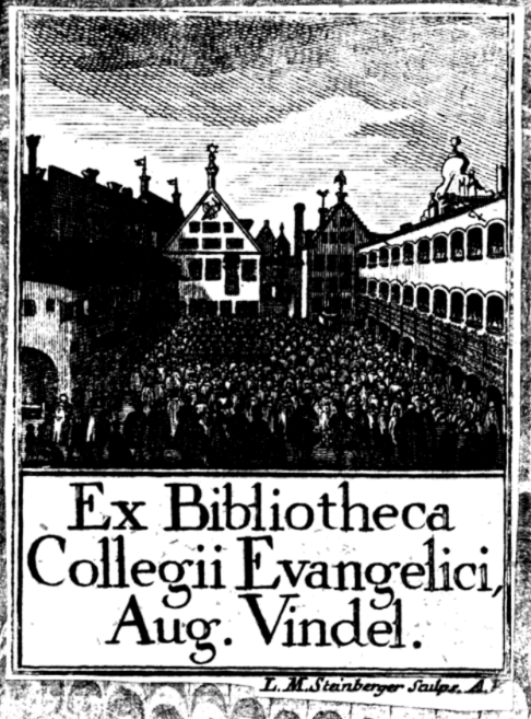 Ex Libris from library of evangelical college.