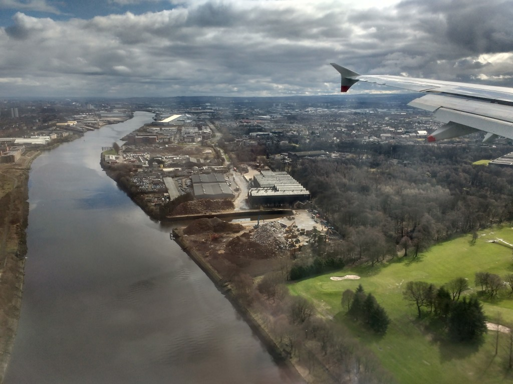 No mean city. The Clyde, Renfrew, and Glasgow beyond.