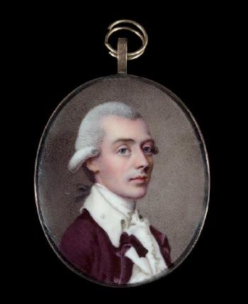 Enamel portrait of Thomas Lewin by Johann Heinrich Hurter, 1783.