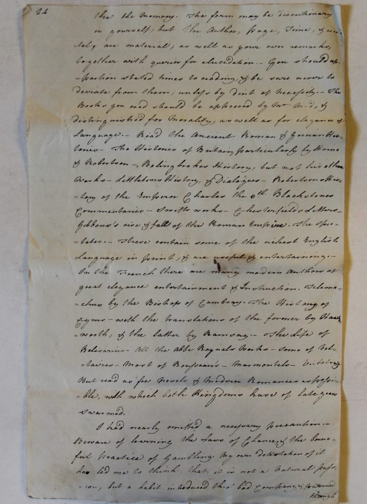 Letter from Macintosh to his son, 17 July 1779. Archives départementales de Vaucluse, 2 E Titres de famille 85, f. 24.